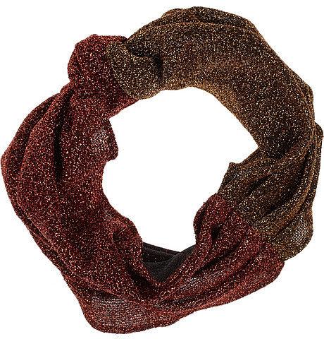 Eugenia Kim Chiara glitter-flecked jersey turban headband