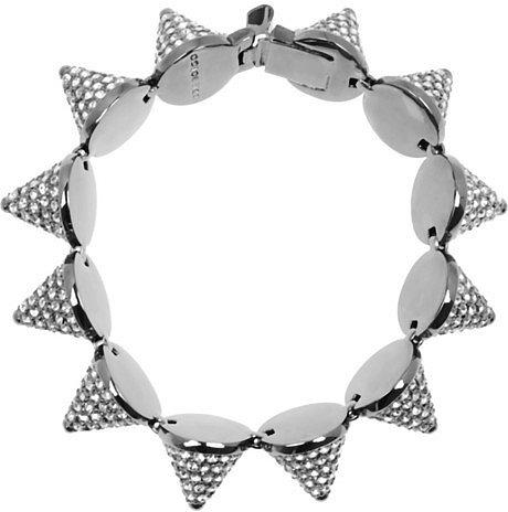 Eddie Borgo Gunmetal-plated crystal cone bracelet
