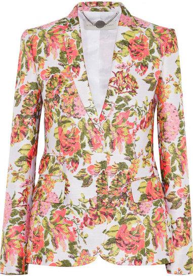 Stella McCartney Neon floral jacquard jacket