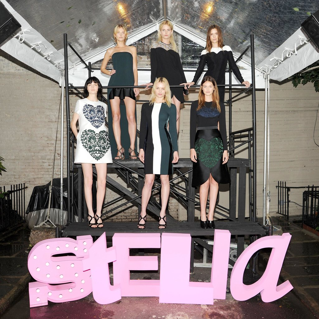 Models at Stella McCartney's Resort 2014 presentation. Source: Billy Farrell/BFAnyc.com