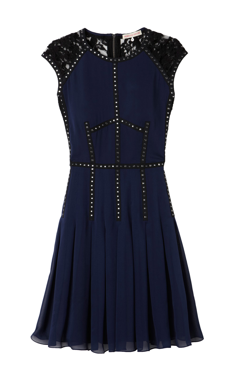 Rebecca Taylor Toughens Up The Dainty Cocktail Dress 495 With Stud