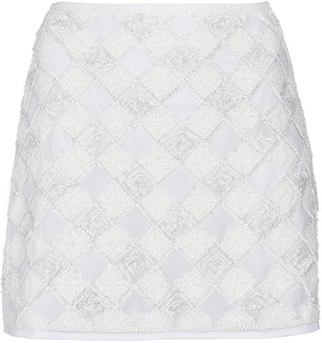 Tall Checkerboard Pelmet Skirt