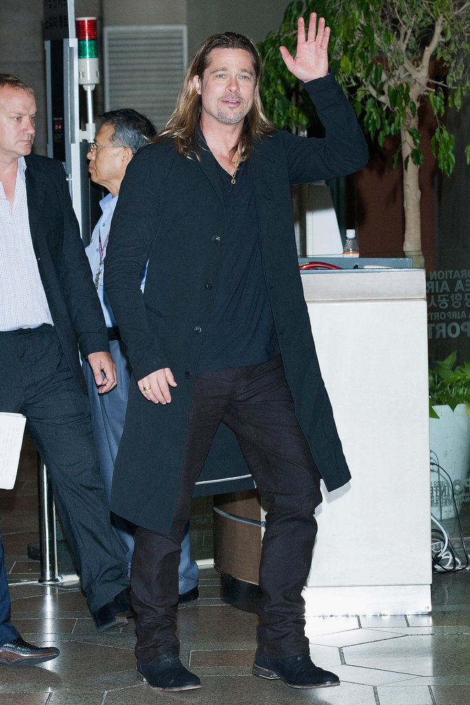 Brad Pitt continued his promotional tour for World War Z.