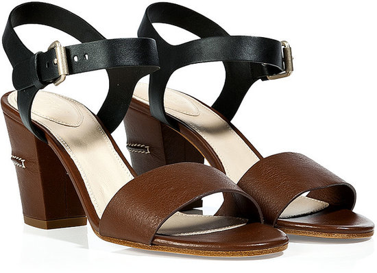 Chloé Brown/Black Block Heel Sandals
