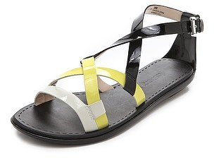 Luxury rebel shoes Swing Colorblock Flat Sandals