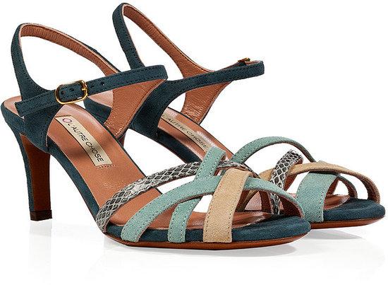 LAutre Chose Colorblocked Suede Sandals