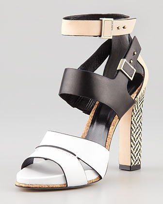 Rachel Roy Fawn Colorblock Leather Sandal