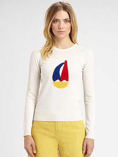 Boy. by Band of Outsiders Wool Sailboat Sweater
