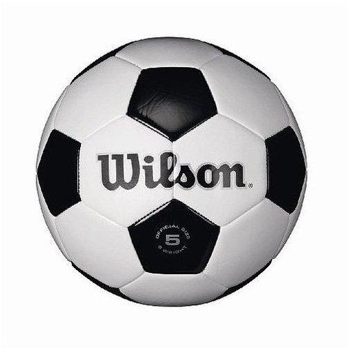 Wilson Traditional Soccer Ball, White/Black - Size 3