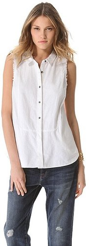Free people Linen Sleeveless Shirt
