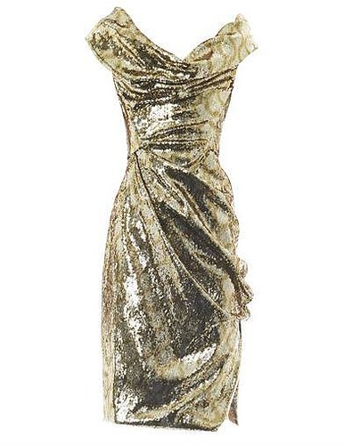 Vivienne Westwood Gold Label Sequin squiggle-print fitted dress