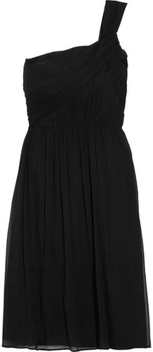 J.Crew Lucienne one-shoulder silk-chiffon dress