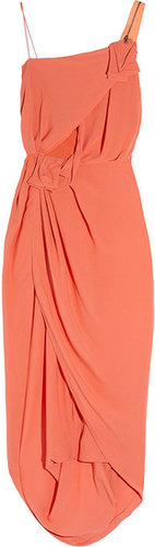 Willow Asymmetric silk-crepe dress