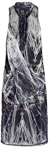 McQ Alexander McQueen Neon light-print dress