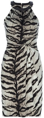 Michael Michael Kors printed halter neck dress