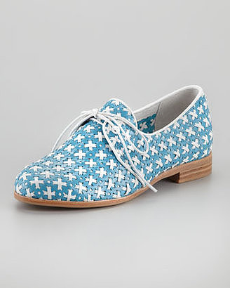 Jeffrey Campbell's blut and white lace oxfords ($100, originally $150) feature a unique pattern, which will make your feet stand out all Summer.