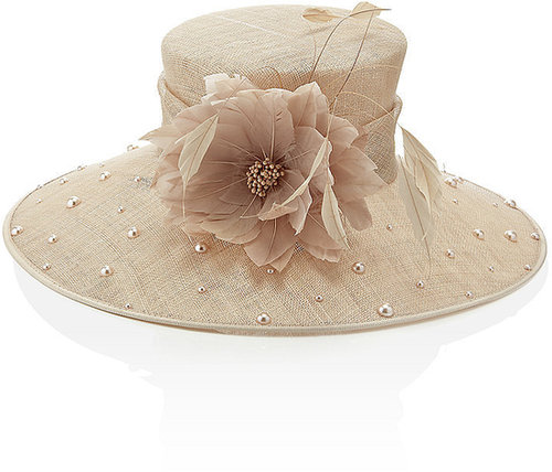 Nigel Rayment Pearl Embellished Hat
