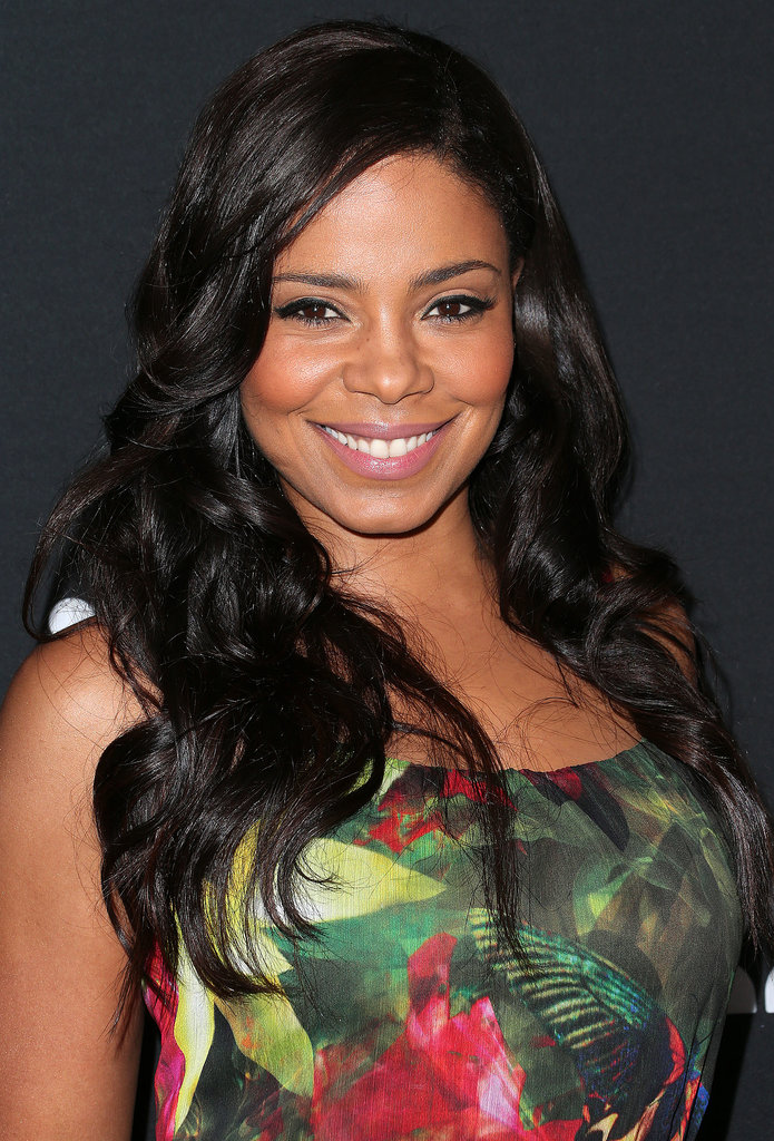 Beautiful, glossy waves and rosy cheeks are a classic beauty look, and Sanaa Lathan nailed the combo.