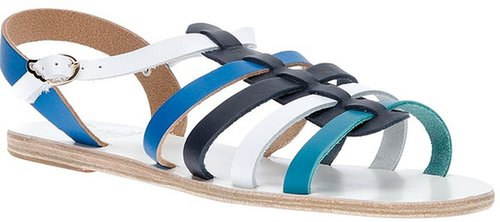 Ancient Greek Sandals bi-colour sandal