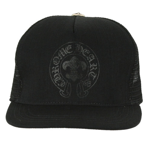 Chrome Hearts Black Horseshoe Denim Baseball Cap