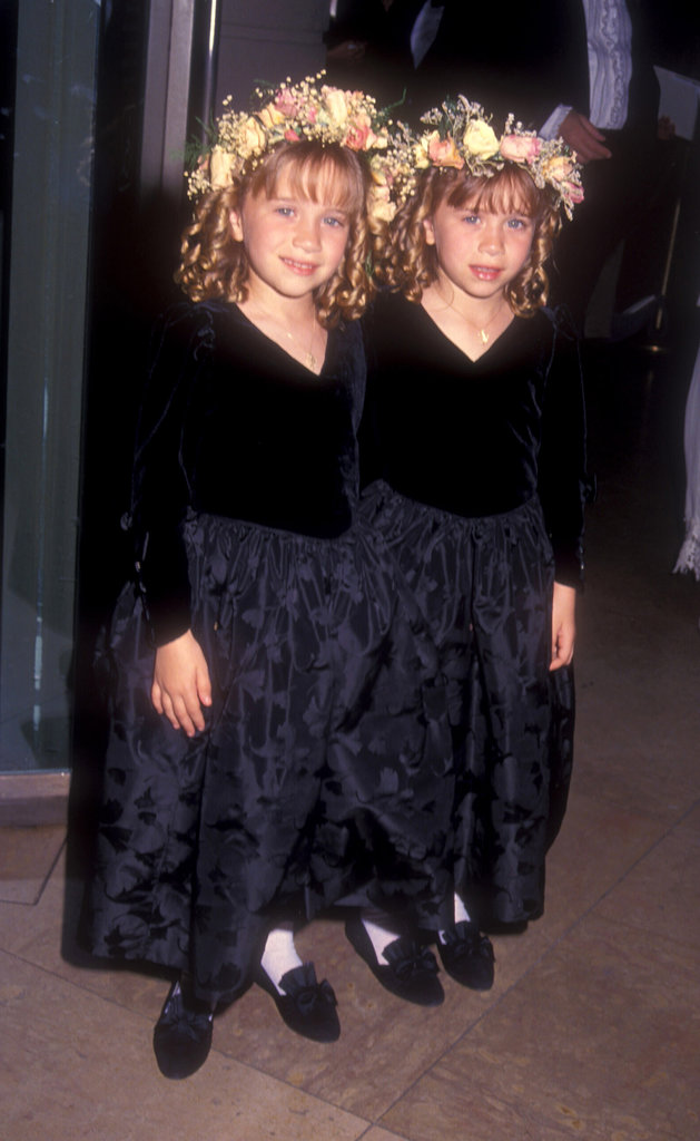 The two wore matching ensembles at the annual Writers Guild of America Awards back in 1994. They topped off their looks with ringlets and floral crowns.