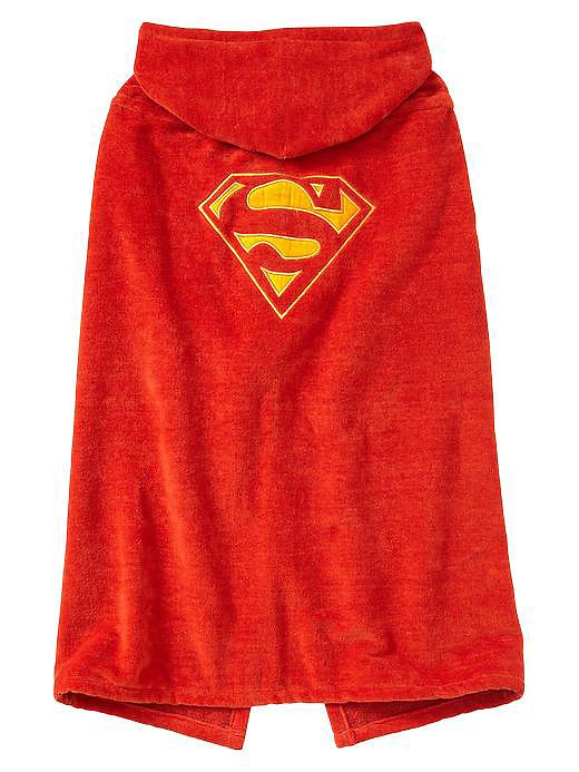 Bath time becomes so much more adventurous when you get to dry off in a Gap Kids x Junk Food Superman Hooded Towel ($40).