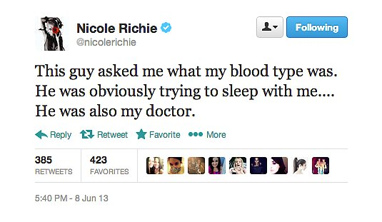 We're going to give Nicole Richie the benefit of the doubt here.
