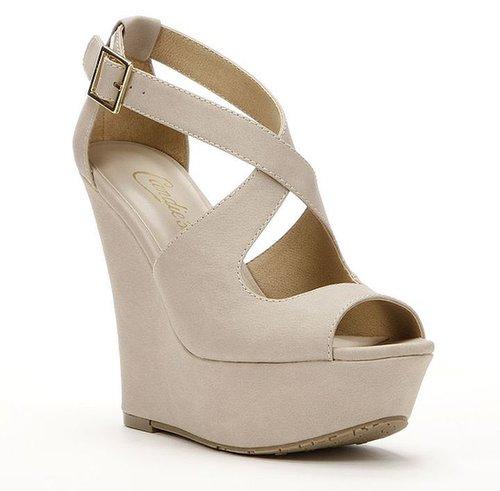 Candie's peep-toe platform wedge sandals - women