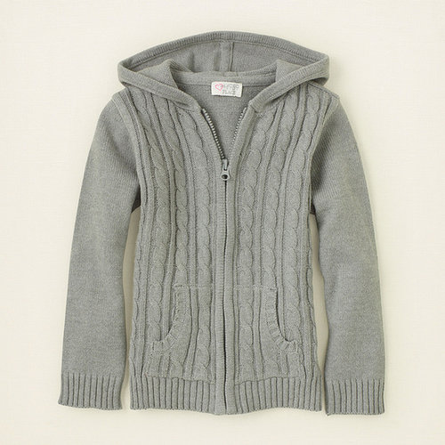 Uniform zip-up hoodie sweater
