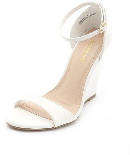 Ankle-Strap Single Sole Wedge