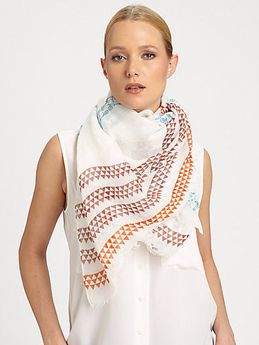 Yarnz Pattern-Striped Cotton & Linen Scarf
