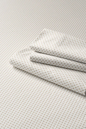 200-count Percale Diamond Print  Flat Sheet