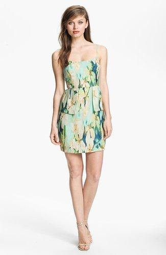 BB Dakota 'Palm Beach' Print Peplum Dress