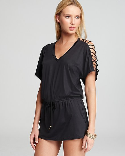 PilyQ Pily Q Glam Black Peek-A-Boo Cover Up