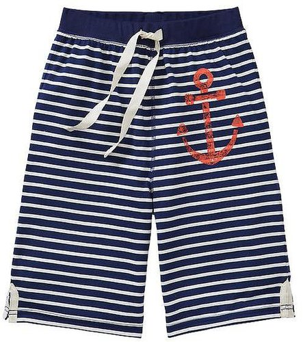 Graphic striped pajama shorts