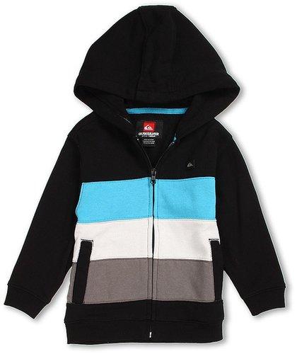 Quiksilver Kids - Crazy Straw Full Zip Fleece Hoodie (Toddler/Little Kids) (Black) - Apparel