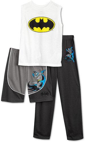 DC Comics Kids Pajamas, Boys or Little Boys Batman 3-Piece Set