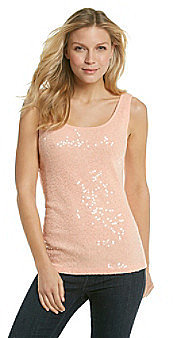 Relativity® Sequin Frosted Rib Tank Top