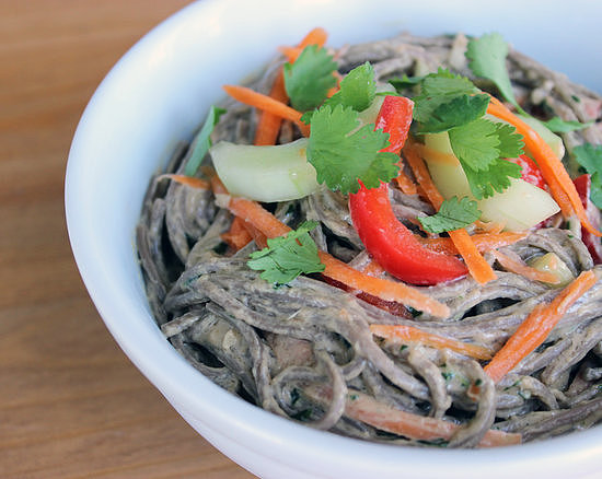 Cold Soba Salad With Ginger Peanut Dressing