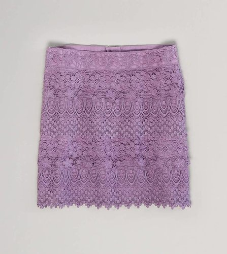 AE Tiered Lace Miniskirt