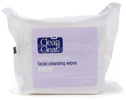 Clean & Clear Makeup Dissolving Facial Cleansing Wipes