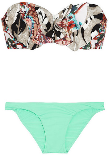 Zimmermann Lacquer printed bandeau bikini