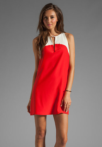 Parker Zoe Color Block Dress in Cherry/Vanilla