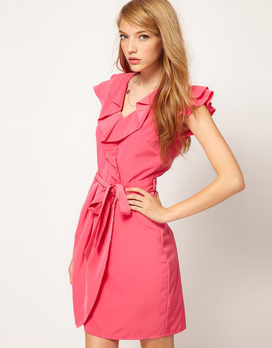 A Wear Wrap Front Dress