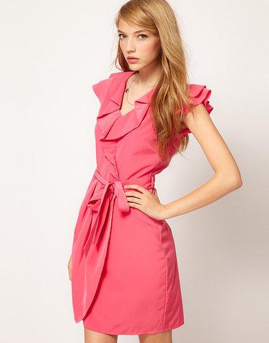 A Wear Wrap Front Dress