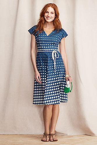 Women's Polka Dot V-neck Dress