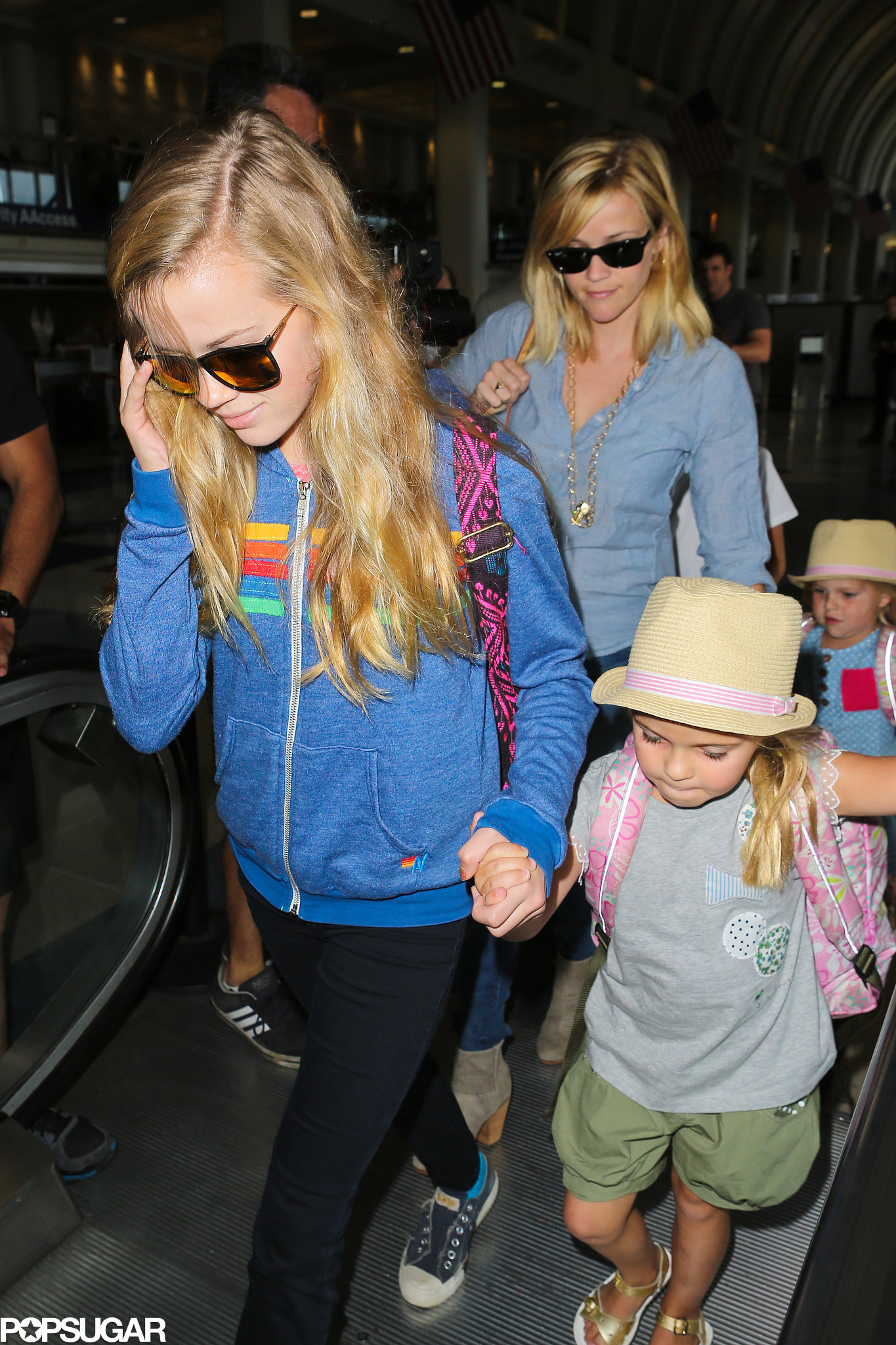 Reese Takes Ava and Deacon on a Pre-Father's Day Family Trip