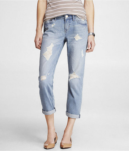 Cropped Rolled Destroyed Boyfriend Jean