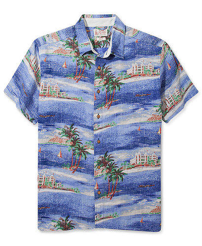 Lucky Brand Jeans Shirt, Printed Dale Hope Hawaiian Short Sleeve Shirt