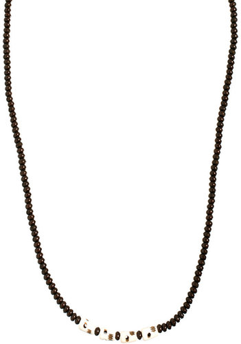 ASOS Long Necklace With Skull Beads